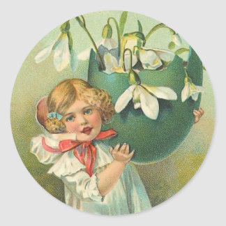 Pegatinas de Pascua del vintage Pegatina Redonda