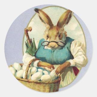 Pegatinas de Pascua del vintage Pegatinas Redondas