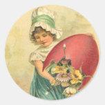 Pegatinas de Pascua del vintage