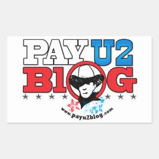 Pegatinas de PayU2blog Pegatina Rectangular