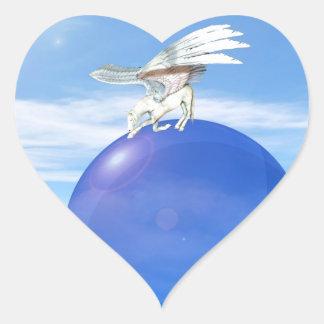 Pegatinas de Pegaso de la inclinación Pegatina De Corazón Personalizadas