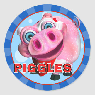 Pegatinas de Piggles de la diversión Pegatinas Redondas