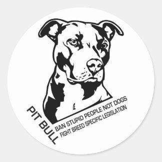 Pegatinas de Pitbull Etiquetas Redondas