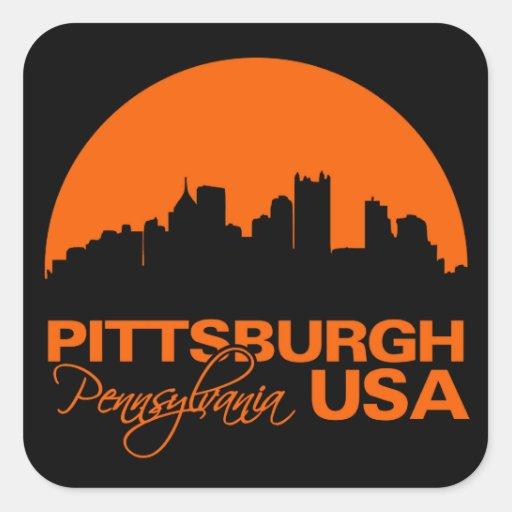 Pegatinas de PITTSBURGH Calcomanía Cuadrada Personalizada