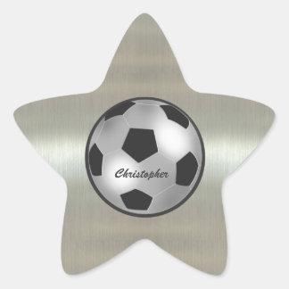 Pegatinas de plata conocidos adaptables de la colcomanias forma de estrellaes personalizadas