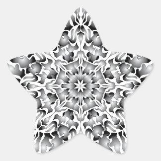 Pegatinas de plata de la estrella de la llama pegatina en forma de estrella