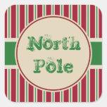 Pegatinas de Polo Norte del vintage Calcomanía Cuadrada