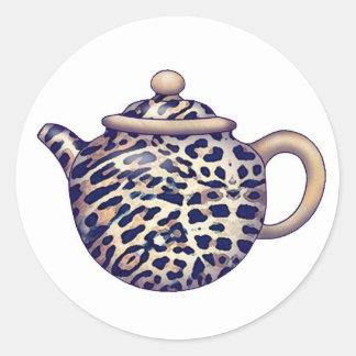 Pegatinas de pote del té pegatina redonda