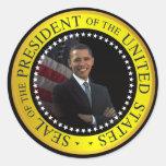 Pegatinas de presidente Barack Obama Pegatinas Redondas