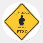 Pegatinas de PTSD Pegatinas Redondas