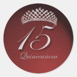 Pegatinas de Quinceanera con la tiara