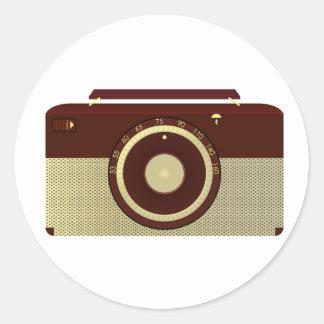 Pegatinas de radio antiguos pegatina redonda