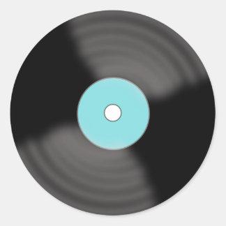 Pegatinas de registro de la obra clásica pegatina redonda