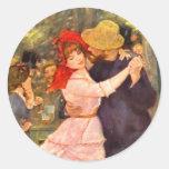 Pegatinas de Renoir Etiqueta Redonda