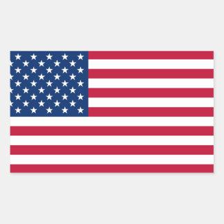 Pegatinas de Retangle de la bandera de los Pegatina Rectangular