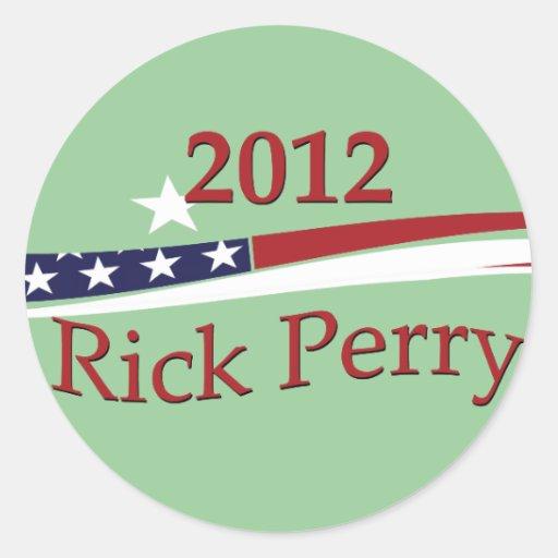 Pegatinas de Rick Perry Pegatina Redonda