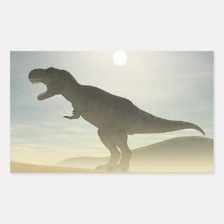 Pegatinas de rugido del dinosaurio pegatina rectangular