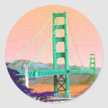 Pegatinas de San Francisco de puente Golden Gate