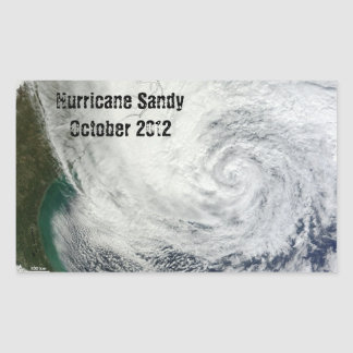 Pegatinas de Sandy del huracán Pegatina Rectangular