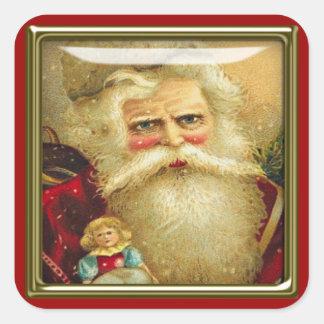 pegatinas de santa del navidad pegatinas cuadradas personalizadas