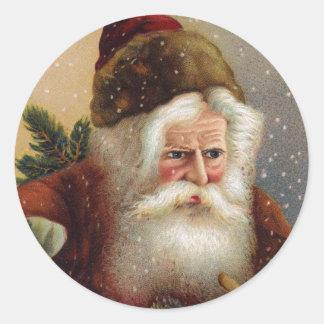 Pegatinas de Santa del Victorian Pegatina Redonda