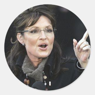 Pegatinas de Sarah Palin Pegatina Redonda