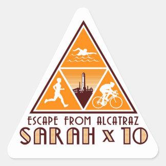 ¡Pegatinas de Sarah! Pegatina Triangular