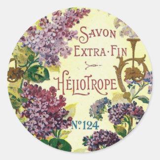 Pegatinas de Savon del heliótropo Pegatina Redonda