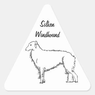 Pegatinas de seda derechos de Windhound Pegatina Triangular