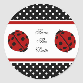 Pegatinas de señora Bug Save The Date