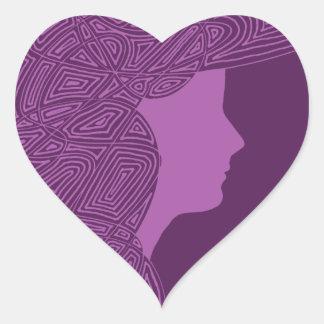 Pegatinas de señora Purple Heart Calcomanías De Corazones Personalizadas