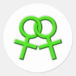 Pegatinas de sexo femenino verdes conectados 02 de