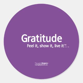 Pegatinas de Shapers™ del pensamiento de la gratit