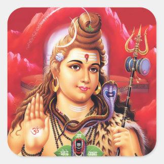 Pegatinas de Shiva - versión 3 Calcomania Cuadradas