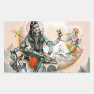 Pegatinas de Shiva y de Ganesha Rectangular Pegatinas