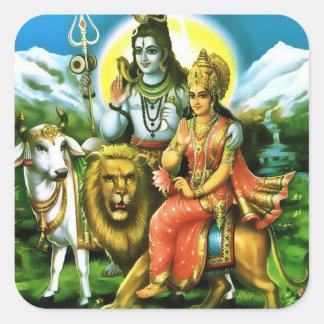 Pegatinas de Shiva y de Parvati Colcomanias Cuadradases