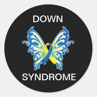Pegatinas de Síndrome de Down Pegatina Redonda