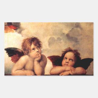 Pegatinas de Sistine Madonna de las querubes de Rectangular Altavoces
