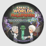 Pegatinas de SmallWorlds Halloween Frankenstein Etiqueta Redonda