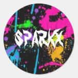 ¡Pegatinas de Sparkx! Pegatina Redonda