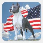 Pegatinas de Staffordshire Terrier americano Pegatinas Cuadradas