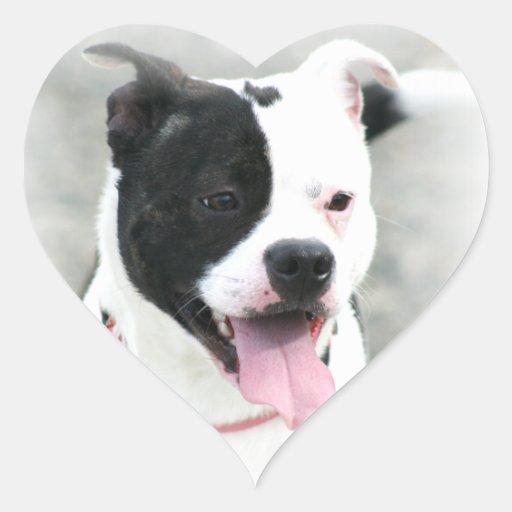Pegatinas de Staffordshire Terrier Pegatina En Forma De Corazón