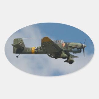 Pegatinas de Stuka JU-87 Pegatina Ovalada