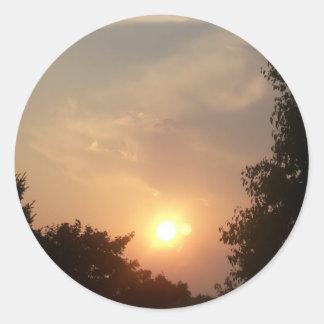 Pegatinas de Sun y de la luna Pegatina Redonda