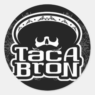 Pegatinas de TACABRON Etiquetas Redondas