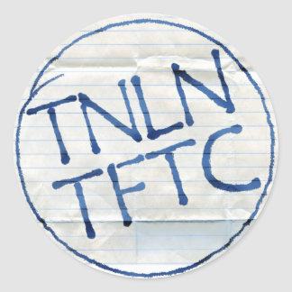 Pegatinas de TNLN TFTC Pegatina Redonda