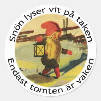 Pegatinas de Tomten con el poema de Victor Rydberg