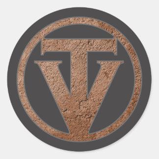 Pegatinas de TrueVanguard - fondo gris oscuro Pegatina Redonda