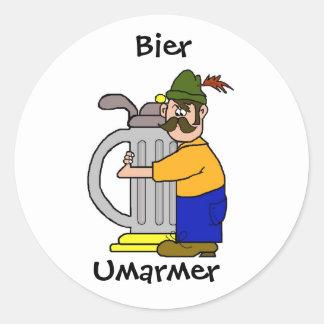 Pegatinas de Umarmer de la féretro   (cerveza Pegatina Redonda