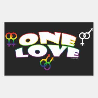 Pegatinas de un arco iris del amor rectangular altavoces